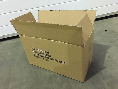 caja usada de carton con logo