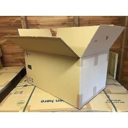 Caja usada de cartón grande...